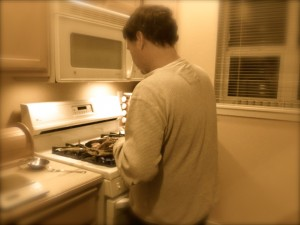 My Man cooks much of the food in our home, and he is the superior chef between us.